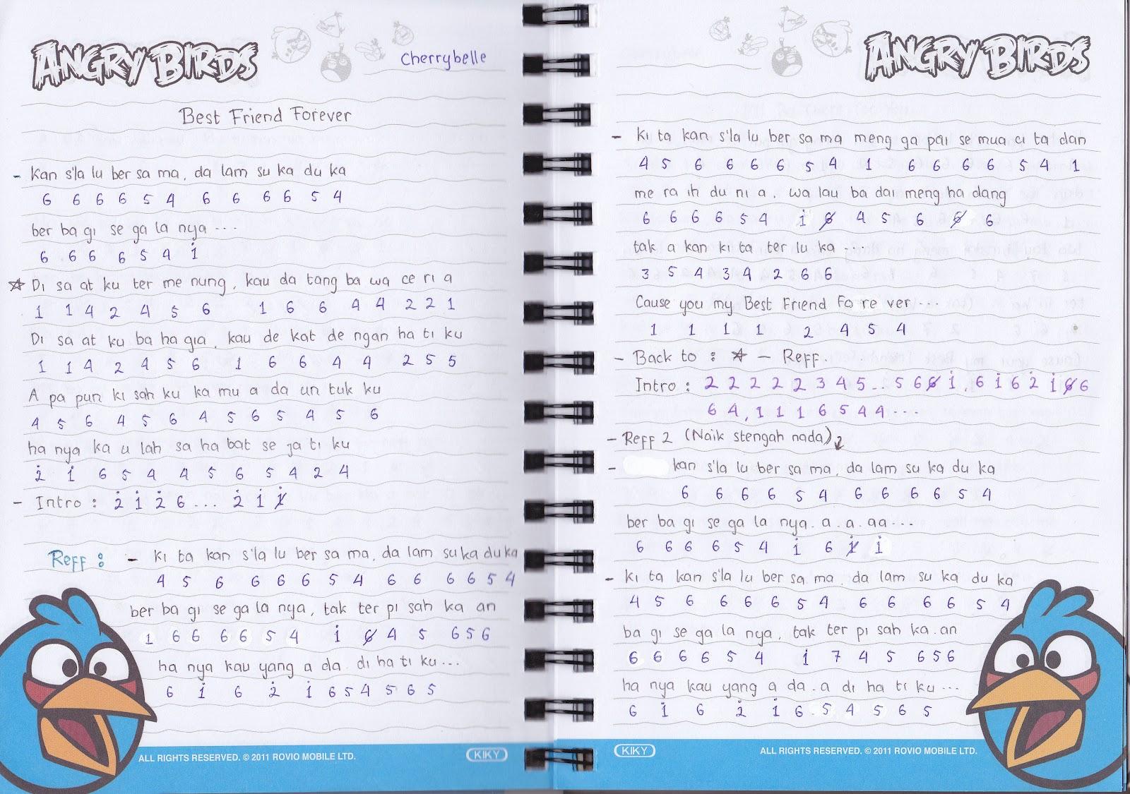 Catatan Not Lagu – Cherrybelle (Piano Pemula)