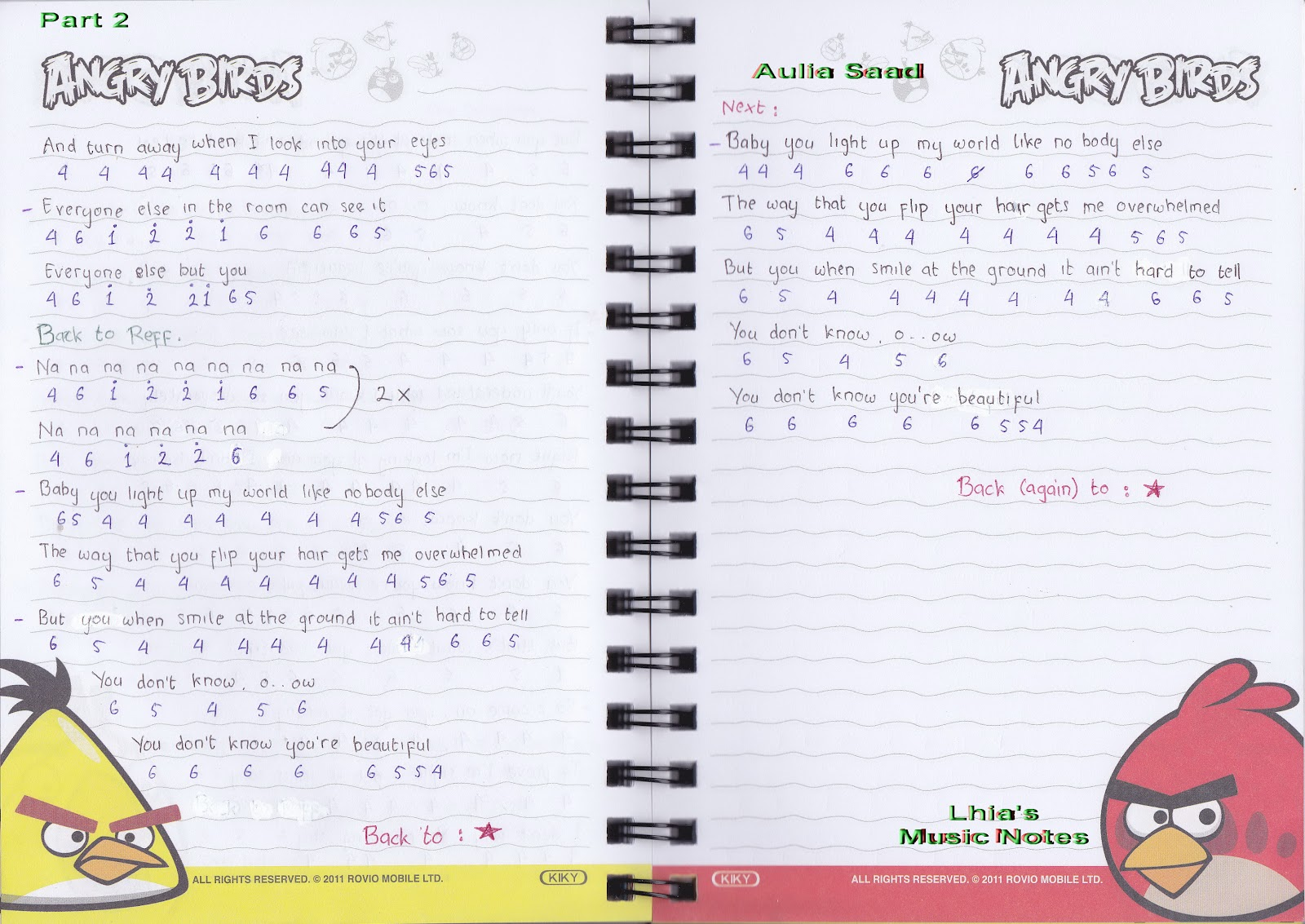 Catatan Not Lagu – One Direction (Piano Pemula) | Lhia's Music Notes