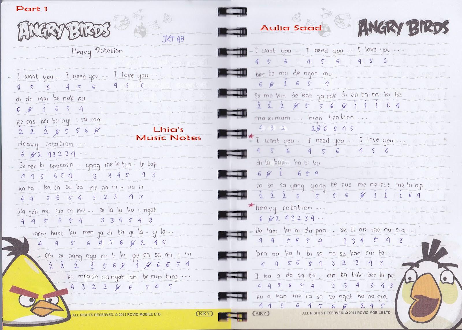 Catatan Not Lagu - JKT48 (Piano Pemula)