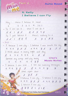 Not Angka Lagu I believe I Can Fly - R Kelly