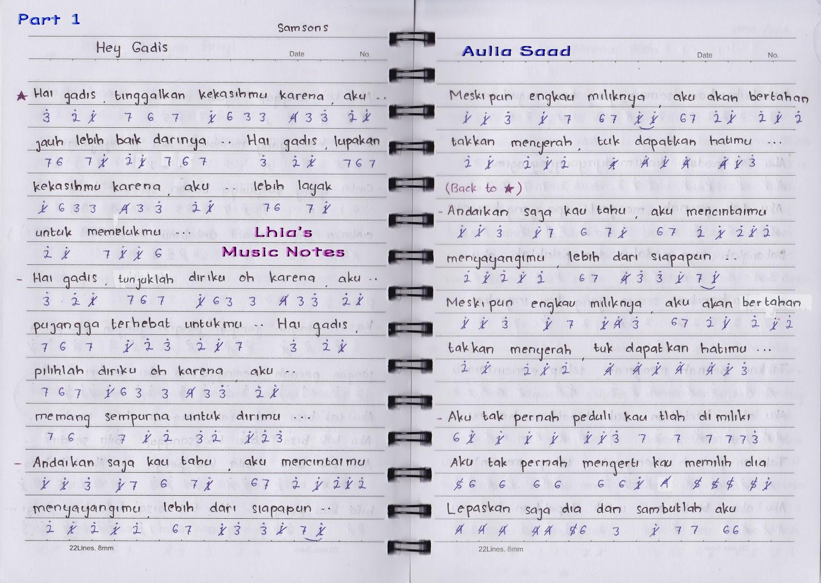not lagu – Samsons | Lhia's Music Notes