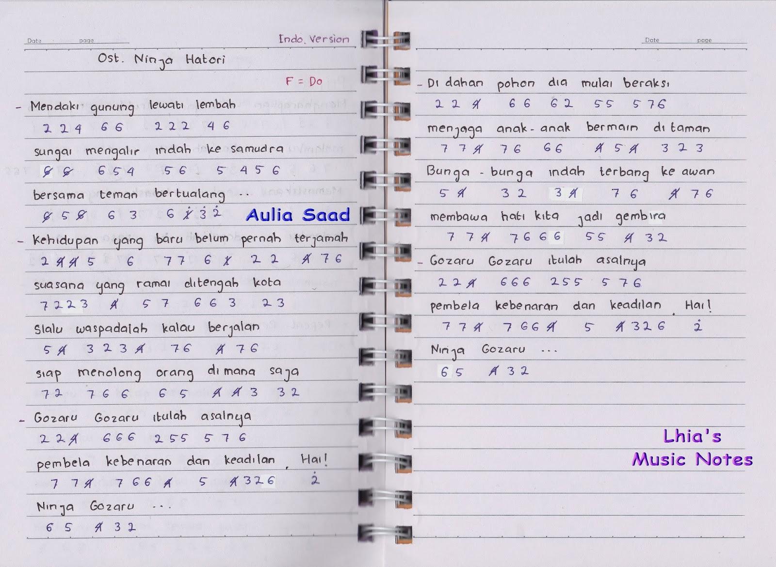 not lagu ost kartun dan anime lhia s music notes halaman 3 - www ...