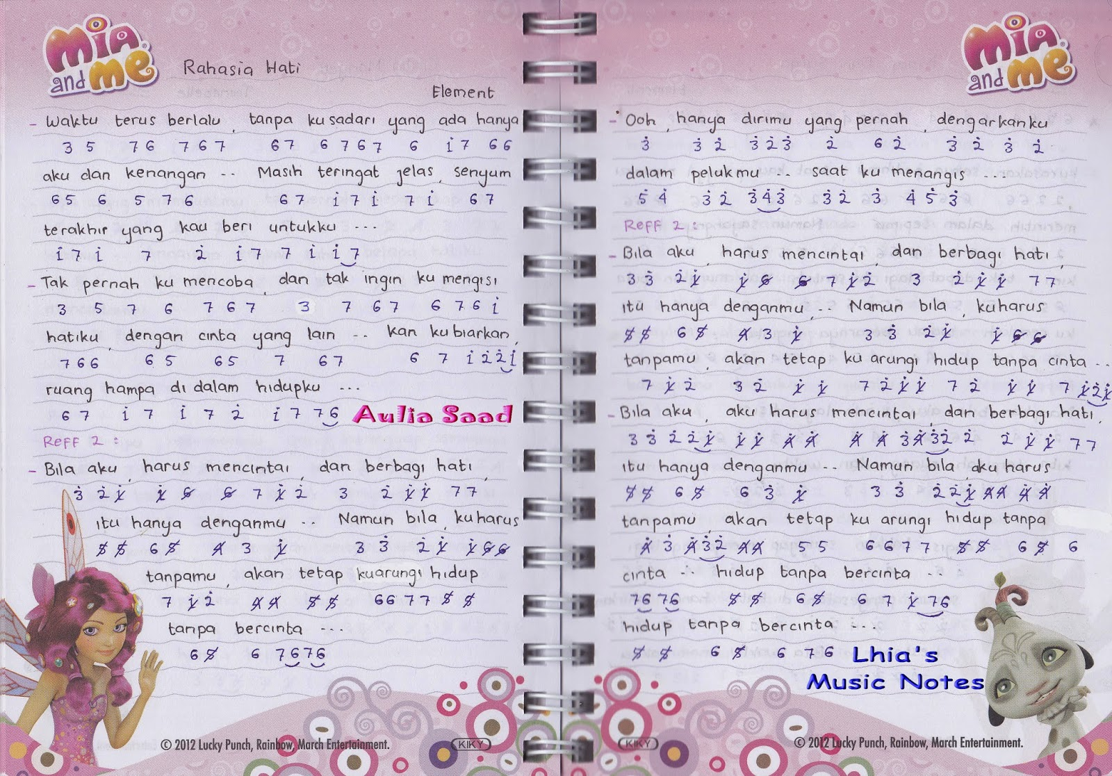 not angka zunea zunea versi gamma 1 lhia s music notes - find pdf