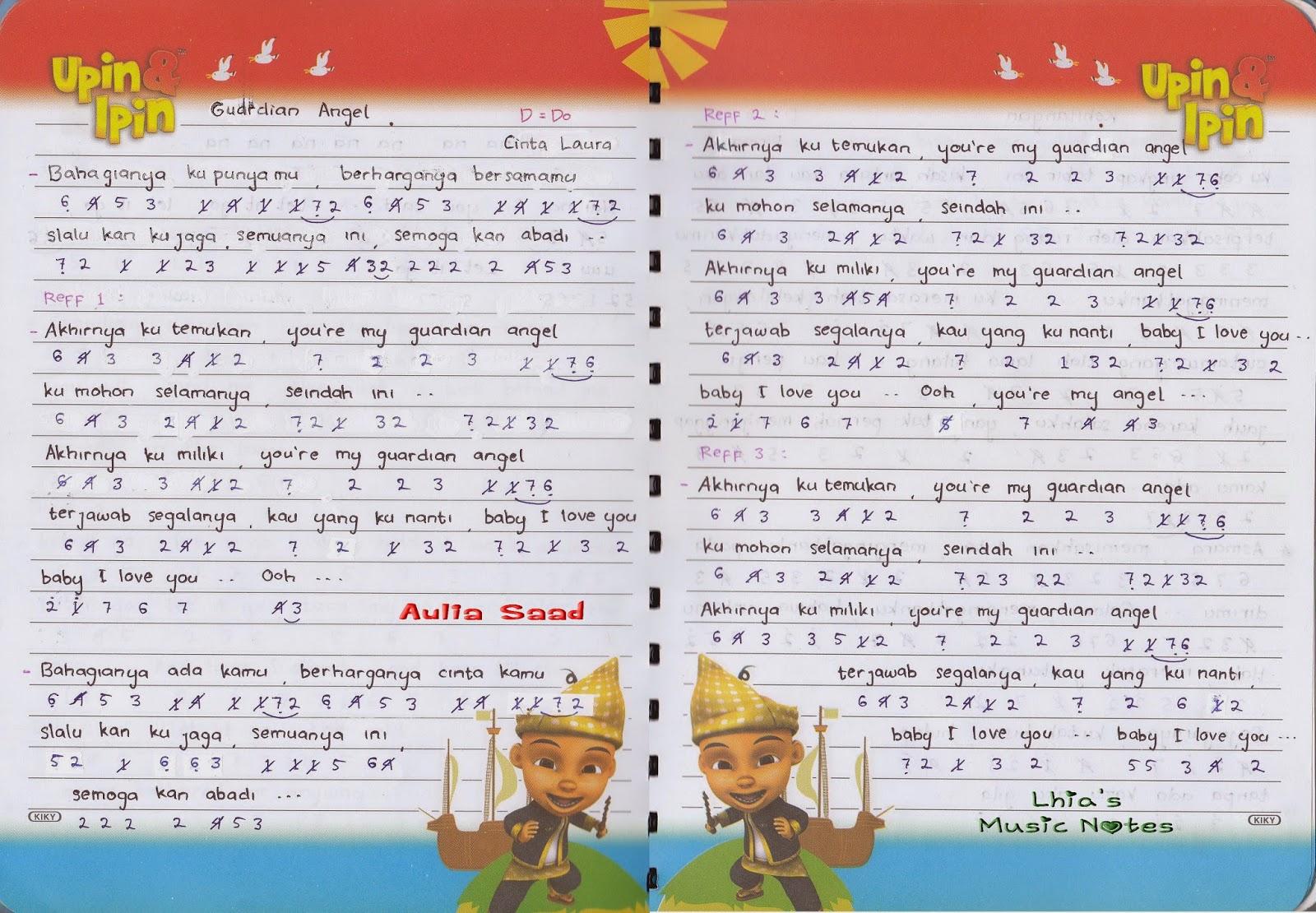 not lagu – Soloist wanita | Lhia's Music Notes | Halaman 8