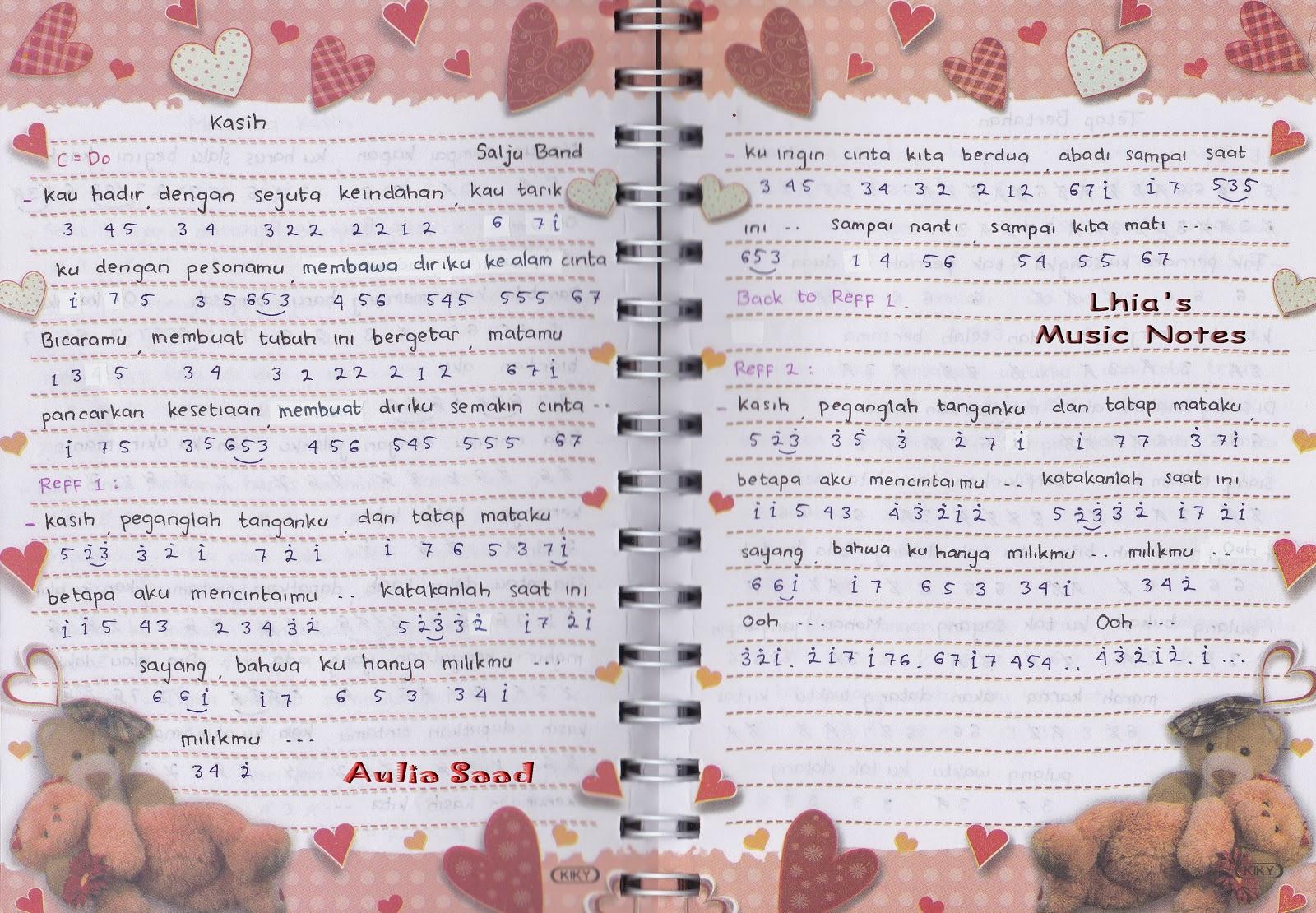 Not Angka Salju Kasih Lhias Music Notes