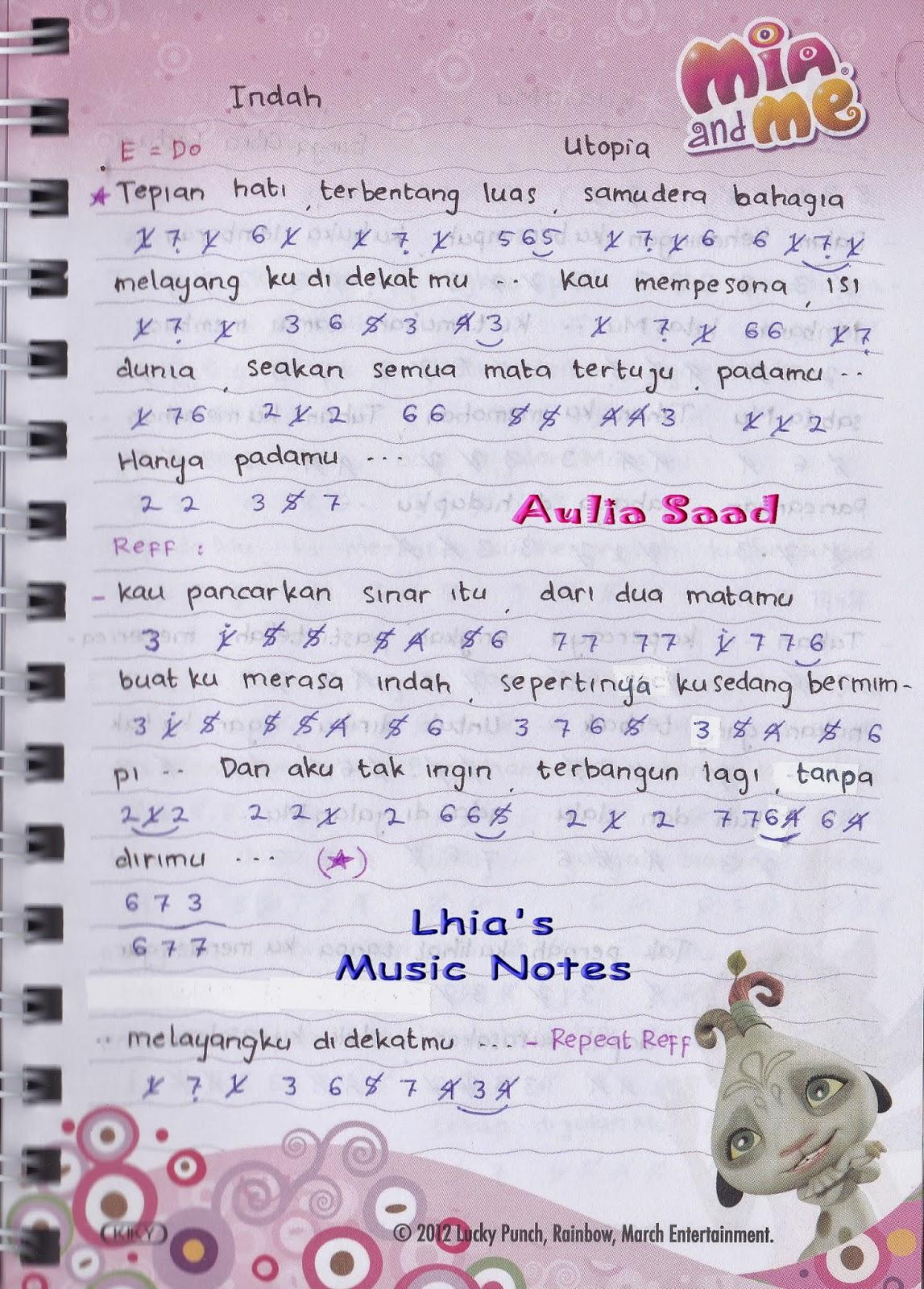 Lhia S Music Notes Belajar Not Angka Yuk Laman 99
