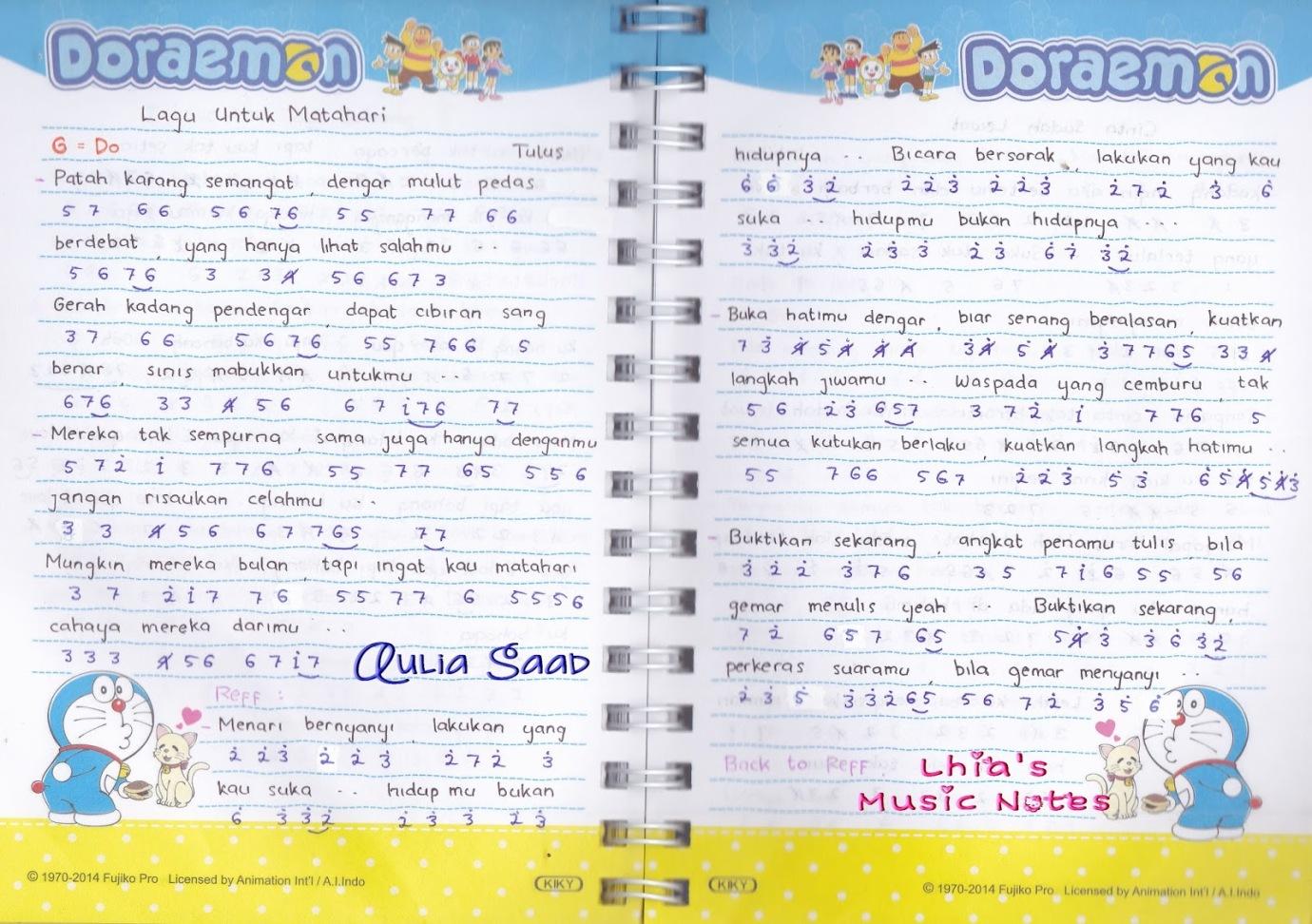 09 Agustus 2015 Lhia S Music Notes