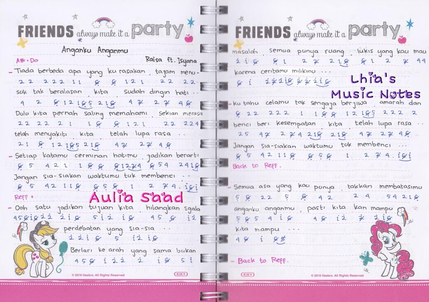 Lhia S Music Notes Belajar Not Angka Yuk